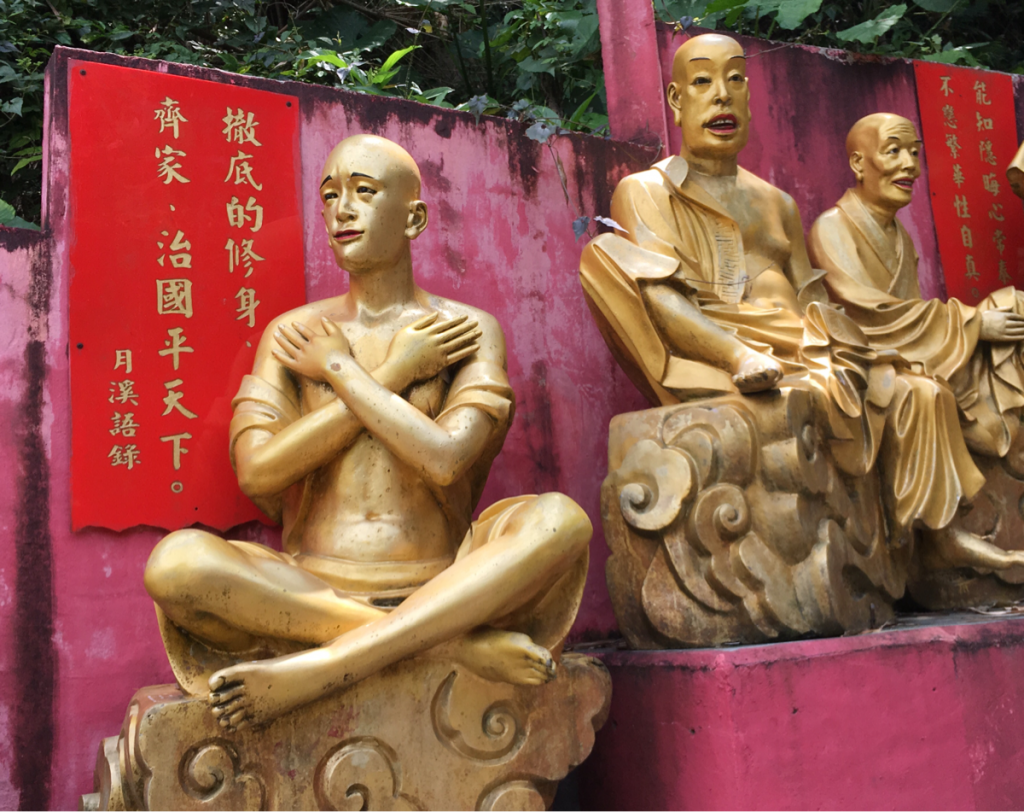 強烈過ぎる萬佛寺の黄金の五百羅漢〜香港の珍スポット?金ピカ像の並ぶパワースポットの萬佛寺を探索(2)