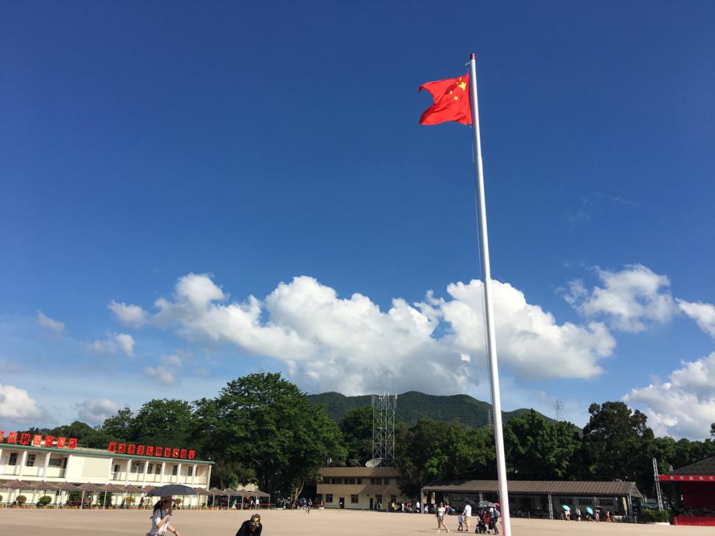 香港にある中国人民解放軍の基地「新圍軍營」を見学~(3)まずは広い敷地を探索