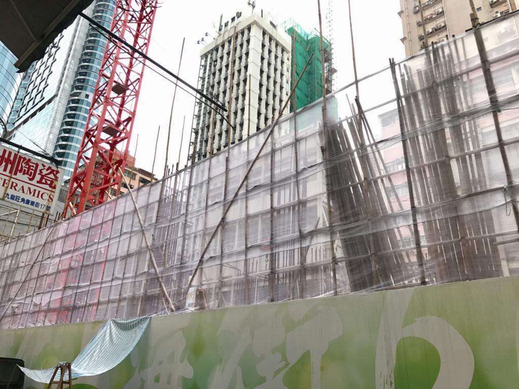 香港の旺角にあった1920年代の建物が再開発で壊されていました