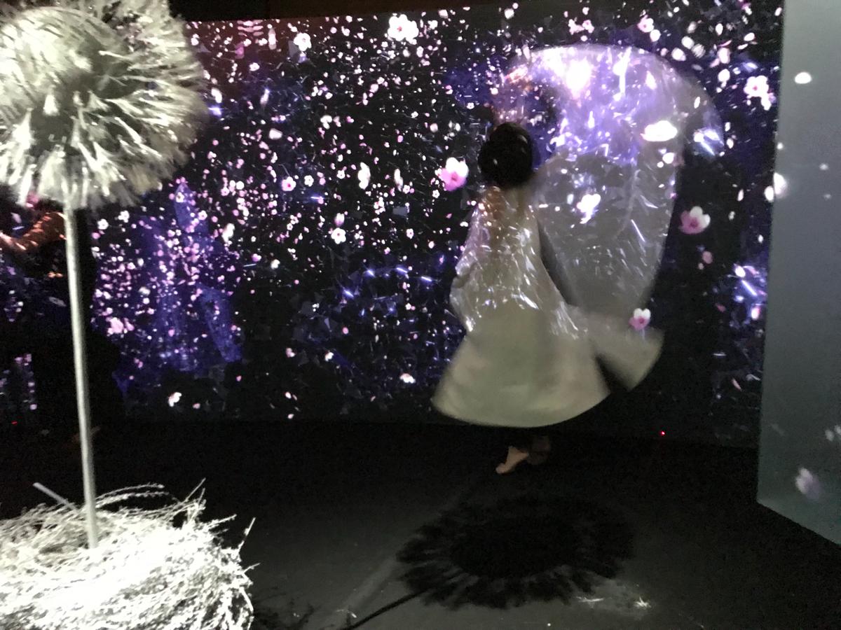 """名古屋の最新スポット「グローバルゲート」で行われている生け花と映像を融合させたイベント""""FLOWERS by NAKED""""で癒された〜台風で名古屋に1日足止め(4)"""