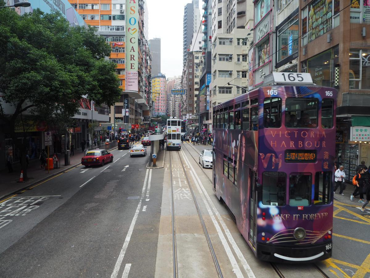 香港島のロケ地巡り〜(8)トラムに乗ってビクトリアパークのベンチに向かった〜ドラマ「恋する香港」のロケ地を散歩