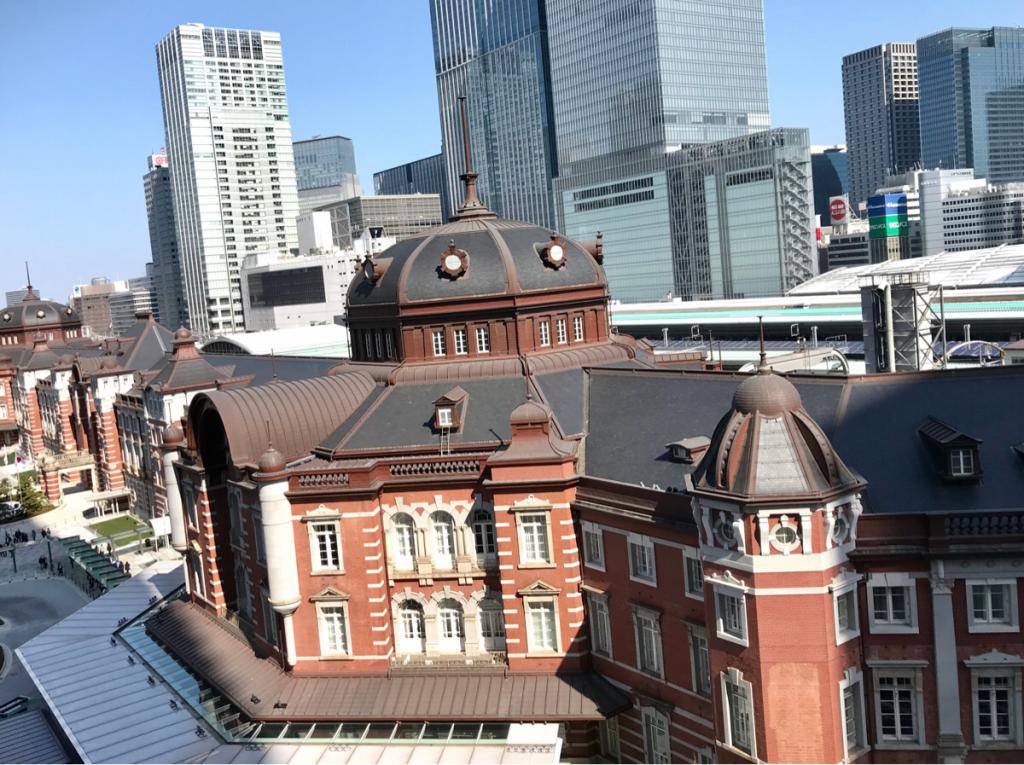 KITTEの屋上から東京駅を見た~やっぱり東京駅は良い
