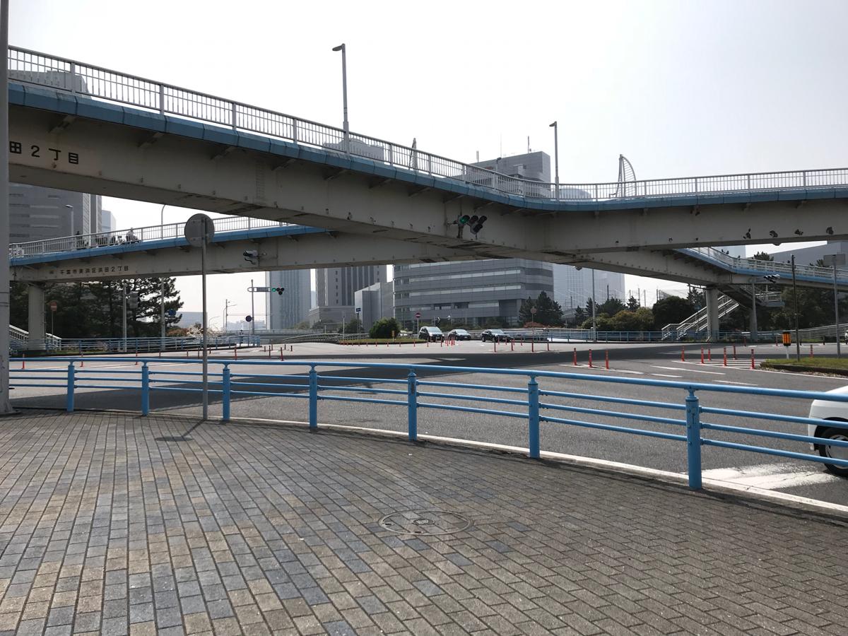 千葉県運転免許センターから、ドラマ「Nのために」のロケ地になった「中浜橋側道橋」を通って海浜幕張駅まで歩いた
