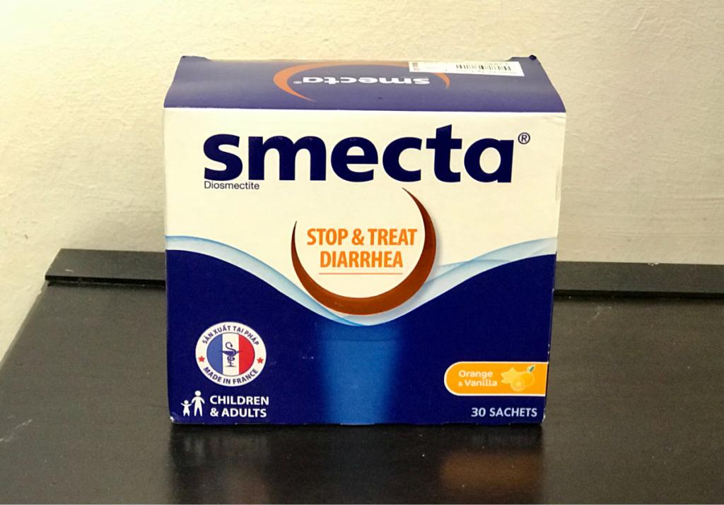 ベトナムで下痢止めの薬smecta(スメクタテスミン)が香港の3分の1以下の値段だったので、思わず箱買いしてしまった〜子連れでハノイ旅行(3)