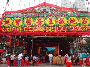 地蔵王菩薩の誕生を祝う祭りは「鶴佬オペラ」で昼間から賑やかだった〜地蔵王菩薩誕@大窩口七號運動場