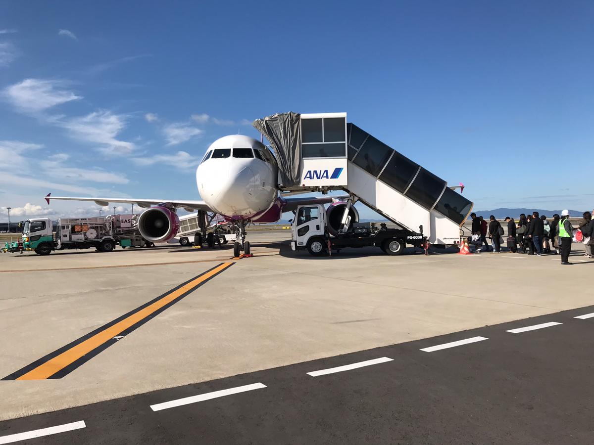 関西国際空港第2ターミナルから、就航したばかりのピーチ航空の釧路行きの便に乗った