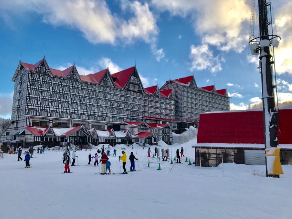白馬コルチナスキー場は、初心者が滑りやすいコースが少ないのが難点