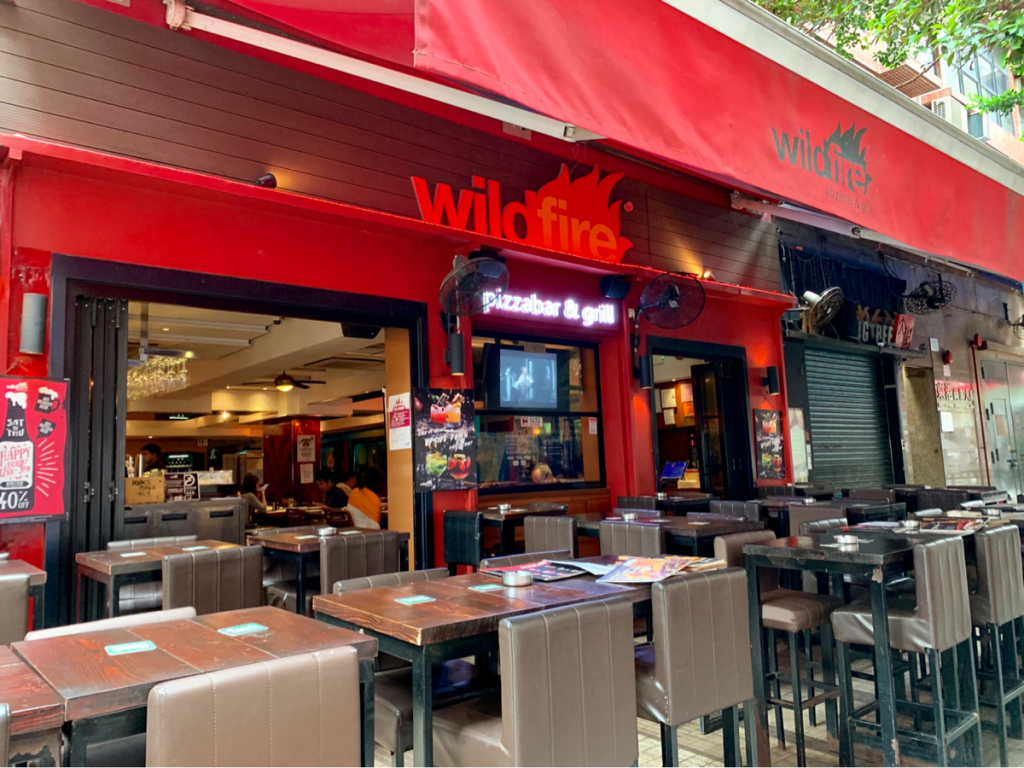 ナッツフォード・テラスでランチを食べて、やっぱり夜に利用してみたいと思った~Wildfire Pizzabar