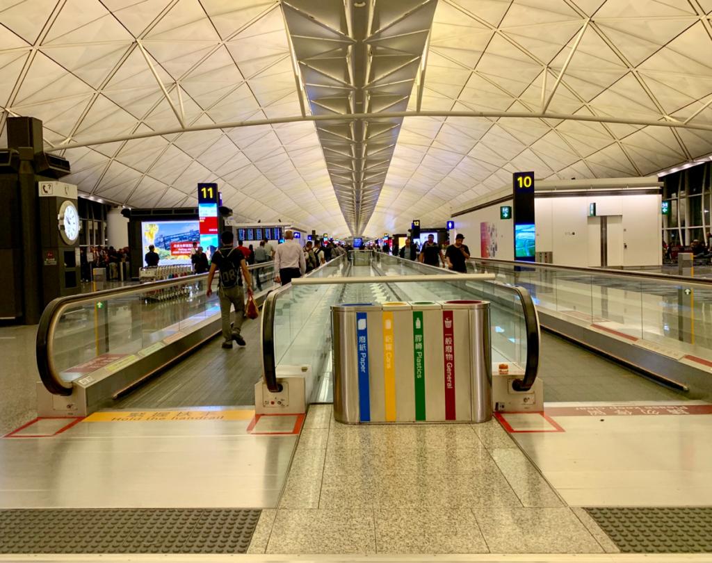 香港国際空港の一部のゲート番号が2019年3月に変更になった
