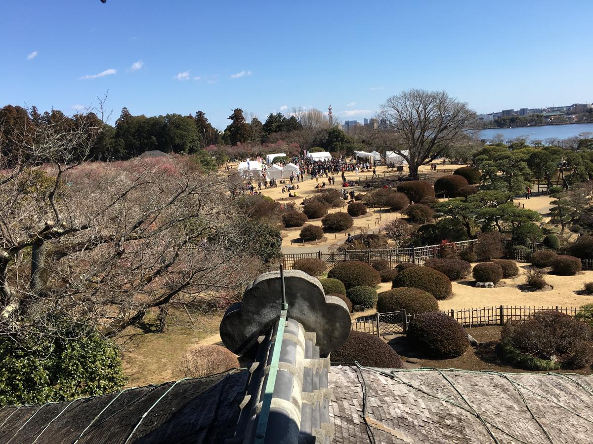 はじめての水戸観光 (3)偕楽園好文亭からの景色を楽しみました