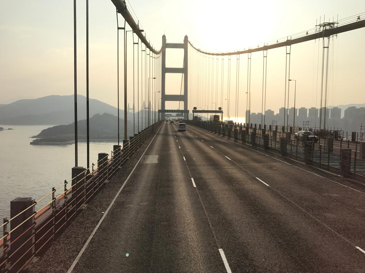 香港国際空港と市街地を結ぶ3つの橋〜汀九橋・青馬大橋・汲水門大橋を橋の上から撮ってみた