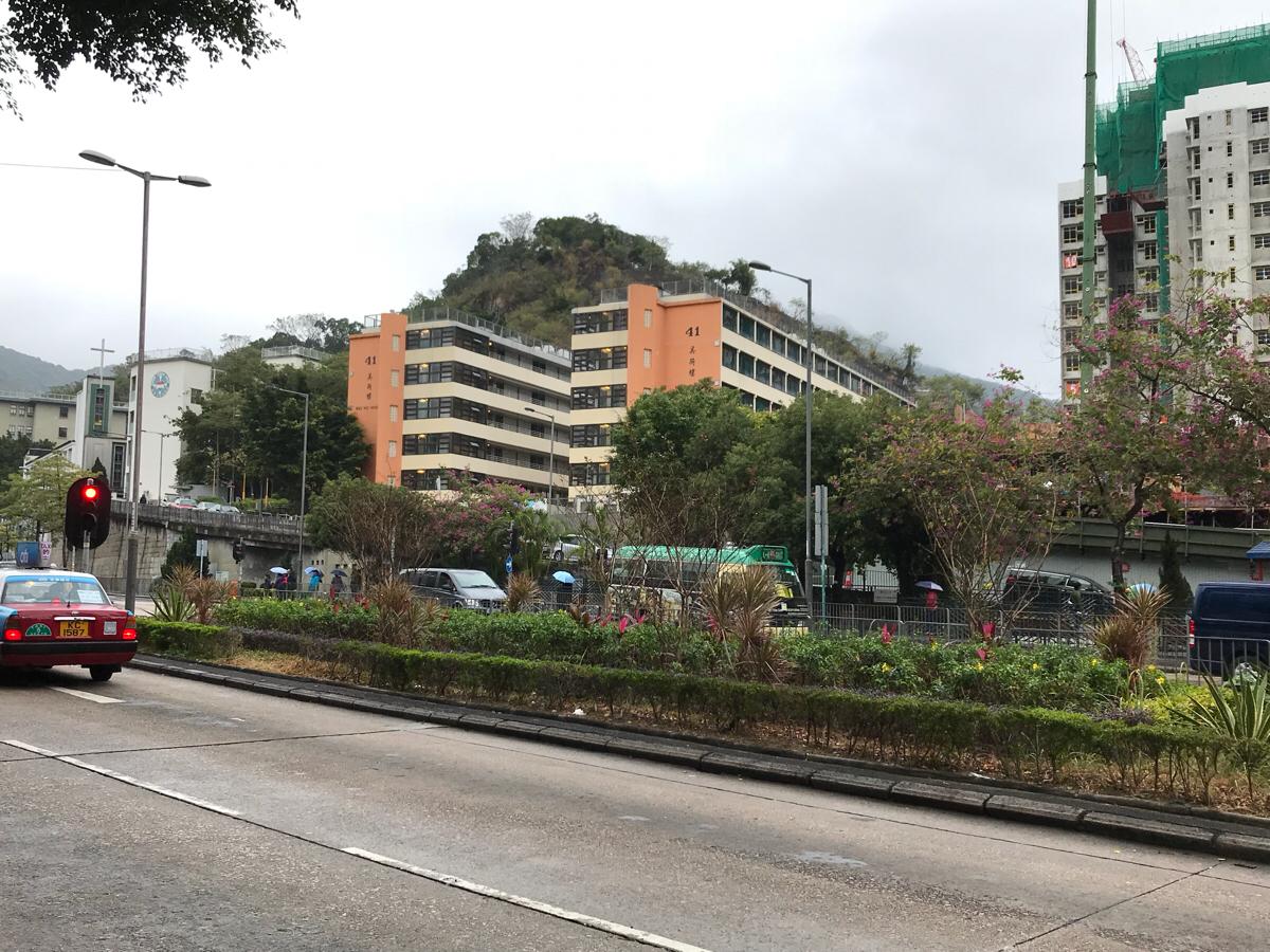嘉頓山(喃嘸山)@深水埗の400段の階段を上って、頂上から香港の景色を眺めた