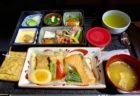 アジア間の深夜便に機内食が必要なのか疑問だけど、日本航空の和食だったのでつい食べてしまった