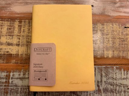 仕事用の手帳は香港のDAYCRAFT Signature Diary の黄色にした