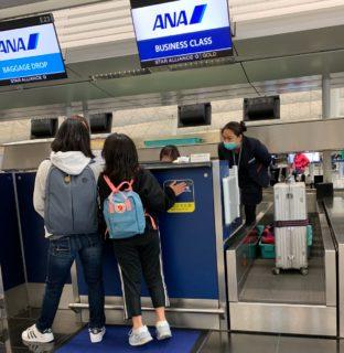 全日空のサービスの「ANAエアポートサポート」を使って、子供だけで香港から飛行機に乗って日本に帰省した