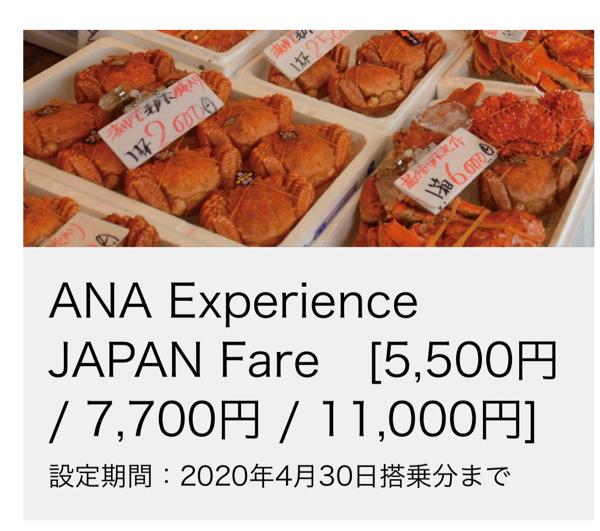 全日空の外国人/海外永住者向けの国内運賃【ANA Experience JAPAN】が使えると国内移動が安くできて便利