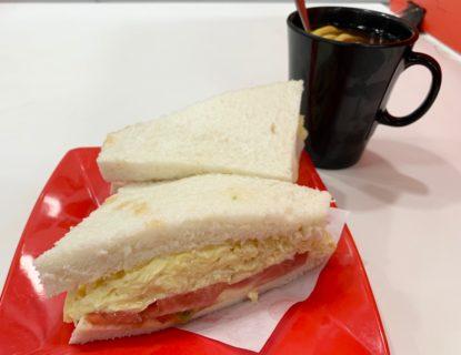 今日の朝ごはん~玉子とトマトのサンドイッチ/添喜冰室@旺角
