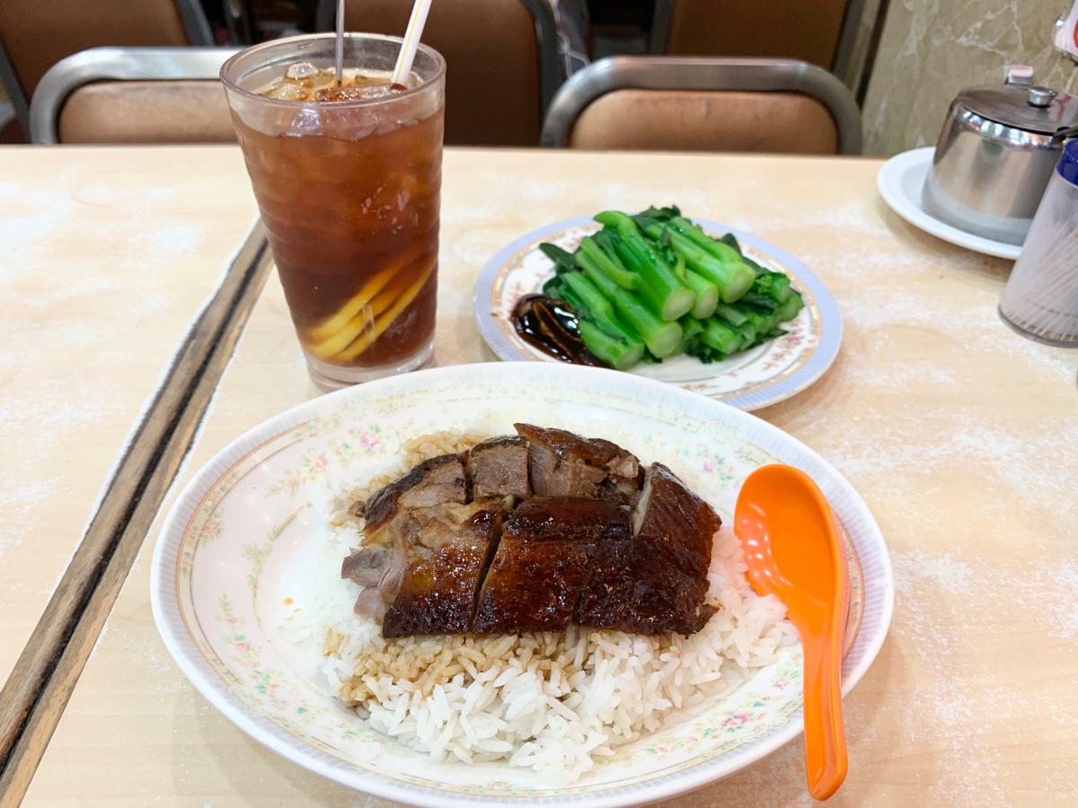 今日の昼ごはん〜燒鵝飯/一樂燒鵝@セントラル