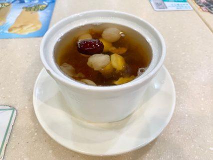 今日のデザート~紅棗圓肉連子雪耳伴桃膠/緑林甜品