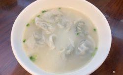 今日の昼ごはん~クレソンの水餃子(魚湯西洋菜餃)/ 圓方餃子粥麵@深水埗