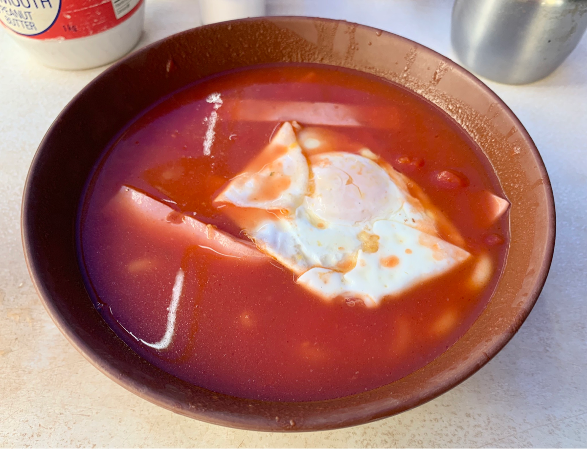 今日の昼ごはん~トマト麵(番茄火腿蛋通)/勝香圓@セントラル