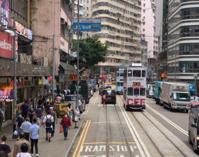 香港トラムで再興燒臘飯店@灣仔 →HSBC銀行@セントラル→glue@灣仔と移動した